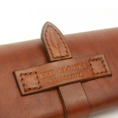 Leather Glasses Case in Saddle Tan designed by Casey Neefus. A leather case to keep your glasses protected and secure.  Handcrafted in Portland, Oregon USA.