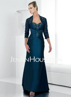 Mother of the Bride Dresses - $172.49 - A-Line/Princess Sweetheart Floor-Length Satin Lace Mother of the Bride Dresses With Ruffle Lace Beading (008006213) http://jenjenhouse.com/A-line-Princess-Sweetheart-Floor-length-Satin--Lace-Mother-Of-The-Bride-Dresses-With-Ruffle--Lace--Beading-008006213-g6213