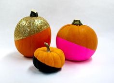 Modern  Color Blocked Pumpkins #TYP entry in #plaidcrafts 4th Annual Trick Your Pumpkin Halloween craft contest! www.TrickYourPumpkin.com