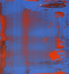 Gerhard Richter; Abstract Painting, Blue/Red Abstraktes Bild, Blau/Rot 1997 38 cm x 35 cm Oil on Aludibond Catalogue Raisonné: 848-12