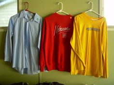 3 long sleeved shirts in bargain_bin's Garage Sale in Belmond , IA for 2.00 each. 2 long sleeved shirts  1 button up dress shirt