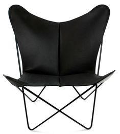 OxDenmarq Armchair Trifolium - Black Steel Frame - Leather - Black |  https://designonline24.nl