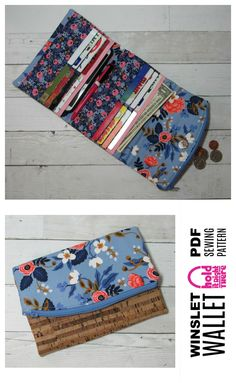 Tri-Fold Wallet with 18 Card Slots - PDF Sewing Pattern by Hold it Right There