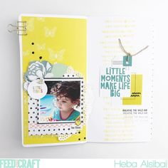 Traveler's Notebook by Heba Alsibai (Moments flat pack and Wanderlust stamp set)