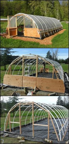 Learn How To Build A DIY Hoop #greenhouse  http://theownerbuildernetwork.co/9ndo  Green houses are a great way to extend your vegetable growing season in a cold climate. Building your own can help you save a lot of money as well as allowing you to customise the size to suit your needs. #Howtogrowvegetablesinyourowngarden