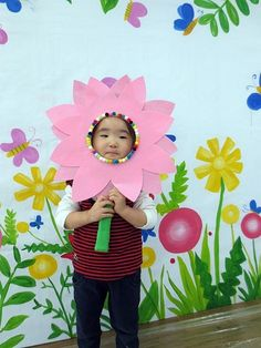 Summer Crafts, Diy And Crafts, Arts And Crafts, Animal Costumes For Kids, Diy For Kids, Crafts For Kids, Flower Costume, Easter Activities, Garden Theme