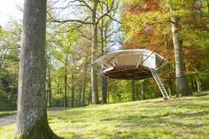 Check it out - this tent can stay up for decades and not hurt the trees: http://inhabitat.com/lightweight-domup-treehouse-tent-can-stay-up-for-decades-without-harming-the-trees/