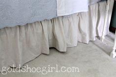 Gold Shoe Girl: DIY Dropcloth Bedskirt