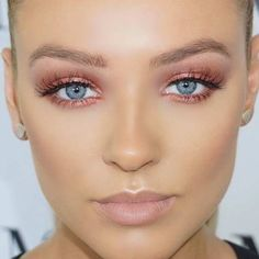 Pink and Orange Smokey Eye Makeup Look