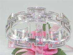 Catawiki Online-Auktionshaus: Armband besetzt mit Diamanten - insgesamt 6,20 K  F/VS1