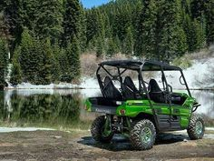 """New 2015 Kawasaki Teryx4â""""¢ LE ATVs For Sale in California. The Kawasaki Teryx4â""""¢ LE is the pinnacle of side x side performance and styling. It was designed with custom touches and special features to provide reliable off-road enjoyment for the whole family. The 2015 Teryx4 LE leads the way with performance, power and handling that sets the benchmark in its class. The entire family will be able to enjoy the smooth ride and long list of standard features on the Teryx4, making those rugged…"""
