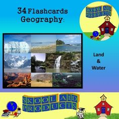 Geography Vocabulary Packet_You Get: 1 PowerPoint Show 4 PDF's -1 set of color 8.5 x 11 inch Posters for printing  -1 set of flash cards 4.25 x 5.5 inch each (4 cards to a page) -1 4-page Worksheet for filling out the terms and concepts from the presentation  -3 Word Searches (2 easy and 1 hard) with color coded answer keys Geography Map, World Geography, Teaching Resources, Teaching Ideas, Academic Vocabulary, Middle Schoolers, English Language Arts, World History, Countries Of The World