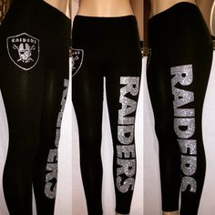 Perfect for game days, tailgating and watch parties. These leggings do not disappoint wear them with your favorite jersey or with any top. Woman sizes S-XXL available; the sizes are not in juniors. If you are in between sizes choose the bigger size as some customers say they were smaller than anticipated.    How to care for your leggings: Hand wash delicate cold and hang dry. Do not use dryer. As with any delicate clothing; wear and tear can cause the glitter to become damaged. All sales…