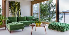 Diamond Grass Green Ottoman - Ottomans - Article | Modern, Mid-Century and Scandinavian Furniture