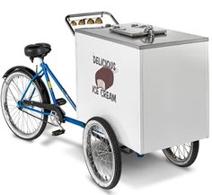 Explore this genuine ice cream cart made by Worksman Cycles that was first produced for the Good Humor company over 75 years ago. Available at Hammacher Schlemmer. Hammacher Schlemmer, Good Humor Ice Cream, Ice Cream Man, Cream Car, Fun Outdoor Games, Glacier, Vintage Ice Cream, Mobile Shop, Good Ole