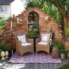 Garden Yard Ideas, Backyard Patio Designs, Small Backyard Landscaping, Garden Spaces, Rustic Gardens, Outdoor Gardens, Cottage Garden Design, Garden Inspiration, Beautiful Gardens