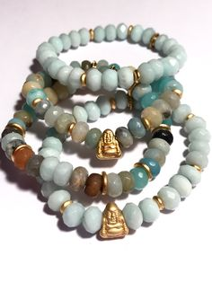 Excited to share the latest addition to my  etsy shop  Stretchy Beaded  Amazonite - e4401ddebff61