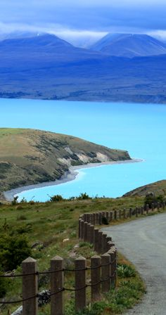 Turquoise waters of Lake Tekapo, South Island, New Zealand