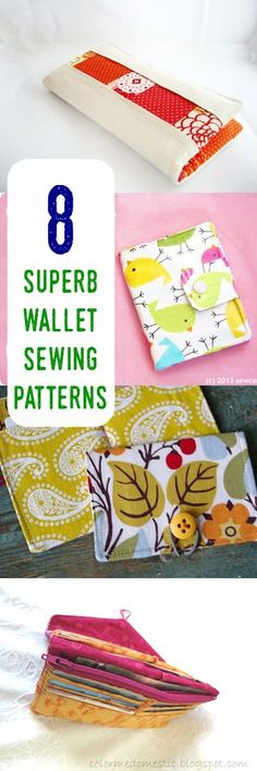 wallet sewing patterns | diy wallet | how to sew wallet