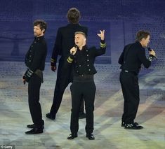 Take That at the Olympic Closing Ceremony, August 12th 2012