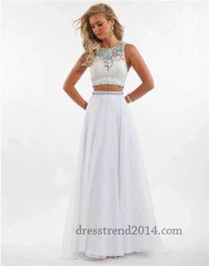 Rachel Allan 6889 Long Two Piece Lace Prom Dresses 2015