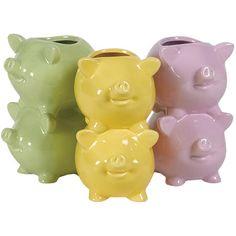 3 Piece Pig Vase Set at Joss & Main