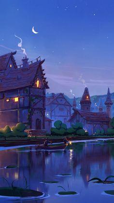 Whats Wallpaper, Look Wallpaper, Anime Scenery Wallpaper, Landscape Wallpaper, Nature Wallpaper, Wallpaper Lockscreen, Fantasy Art Landscapes, Fantasy Landscape, Landscape Art