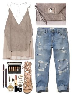 """Untitled #1661"" by kitkat12287 ❤ liked on Polyvore featuring Zara, Abercrombie & Fitch, BCBGMAXAZRIA, Gianvito Rossi, Chanel, Mudd, Maybelline, Tom Ford and Carolina Glamour Collection"