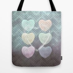 Hearts I Tote Bag by Pia Schneider [atelier COLOUR-VISION] #art #hearts #love #lovethemes #graphicdesign #textures #abstraction #pattern #softcolored #pastell #piaschneider #ateliercolourvision  #valentinesday #giftidea #happyvalentinesday #valentinesgiftidea #bag #totebag #accessoires #fashion #shoppingbag #beachbag