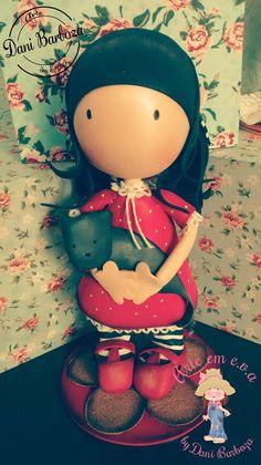Arte em E.V.A. by Dani Barboza: Coleção Gorjuss Mickey Mouse, Polymer Clay, Arts And Crafts, Dolls, Disney Characters, Anime, Ideas Para, Design, Handmade Products