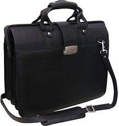 World Traveler Doctor Flap-Over Computer Briefcase Black