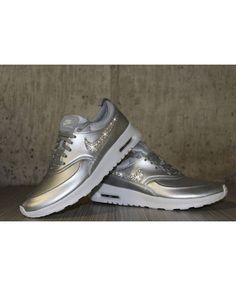 best sneakers 8601f 35734 Nike Air Max Thea Silver White Bling Womens Shoes Nike Air Max Sale, Cheap  Nike