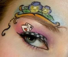 Alice in Wonderland make up! Tanya thought u might like this