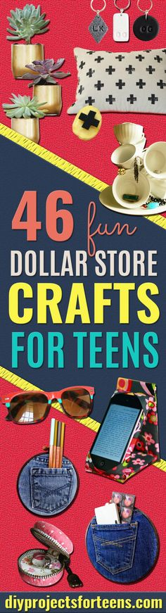 dollar store crafts for teens - cheap room decor ideas and dollar tree crafts make cool diy christmas gift for teen bedroom via @diyprojectteens Diy Room Decor For Teens, Diy Crafts For Teen Girls, Crafts For Teens To Make, Diy Gifts For Kids, Gifts For Teens, Diy For Teens, Crafts To Sell, Diy For Kids, Easy Crafts