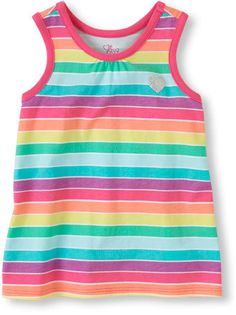 Matchables rainbow-striped tank