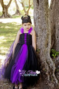 Maleficent inspired tutu dress witch dress by LilThingBowtique