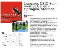 Longines CSIO Schweiz St.Gallen - springen, staunen, mitfiebern, geniessen / Interview Teil I