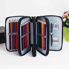 Pencil Pouch - Large Capacity 4-Layer 72 Storage Pencil C...