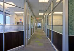 DIRTT walls with glass panels open up this private office environment.