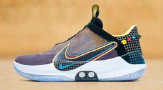 """Nike continues to roll out more iterations of its self-lacing Adapt BB basketball sneaker, this time in a vibrant """"Multicolor"""" scheme just ahead of th Adidas Design, Basketball Sneakers, New Sneakers, Sneaker Brands, Contemporary Fashion, Clarks, Fitness Fashion, Reebok, Trainers"""