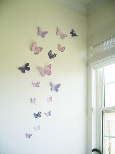 Ordinaire 16 3D Wall Butterflies, Purple, Violet, Lavender, Butterfly, Paper, Wall  Decor,3D, Wedding Decor, Baby Shower, Girls Room, Cardstock