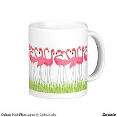 Cuban Pink Flamingos Coffee Mug