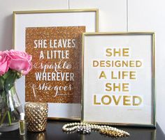 She Designed a Life She Loved Art Print by prettychicsf on Etsy