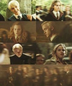 Let's just all except the fact that Draco was staring DIRECTLY at Hermione. Hermione Granger, Harry Potter Draco Malfoy, Harry Potter Ships, Harry Potter Love, Harry Potter Universal, Harry Potter Fandom, Harry Potter World, Harry Potter Memes, Harry And Hermione Fanfiction