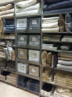 display: shelves and drawer shelves
