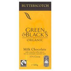 Green & Blacks Organic Butterscotch Milk Chocolate http://www.greenandblacks.co.uk/our-range/Bars/Butterscotch-?p=2668&c1=1559#first