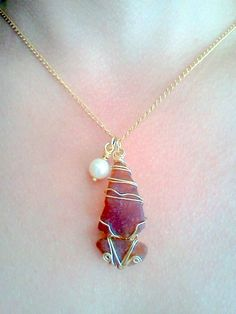 Sea Glass Sailboat by the Full Moon, Sea Glass Necklace