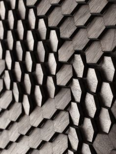 Art Innovative Surface Design by Giles Miller Studio architecture-design Pattern Texture, Surface Pattern, 3d Pattern, Hexagon Pattern, Facade Pattern, Nature Pattern, Texture Design, Surface Design, Wood Surface