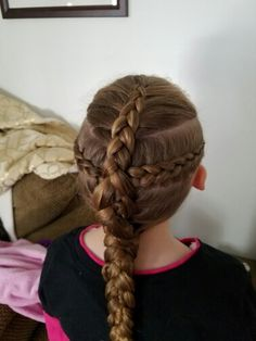 2 dutch braids into 1 dutch braid  ♡