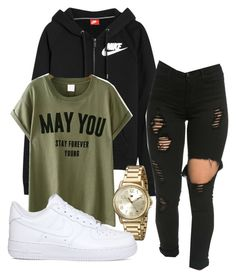 """""""Untitled #193"""" by kingrabia on Polyvore featuring NIKE and Tommy Hilfiger"""